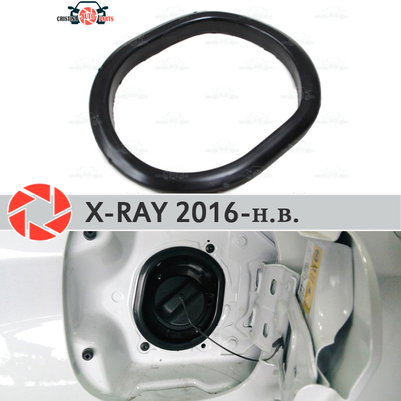 Cover in the opening hatch fuel for Lada X-Ray 2016- trim accessories protection car styling decoration filler neck