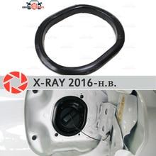 Крышка в открывающемся люке топлива для Lada X-Ray 2016-отделка Аксессуары Защитная оклейка автомобилей Украшение наполнитель шеи
