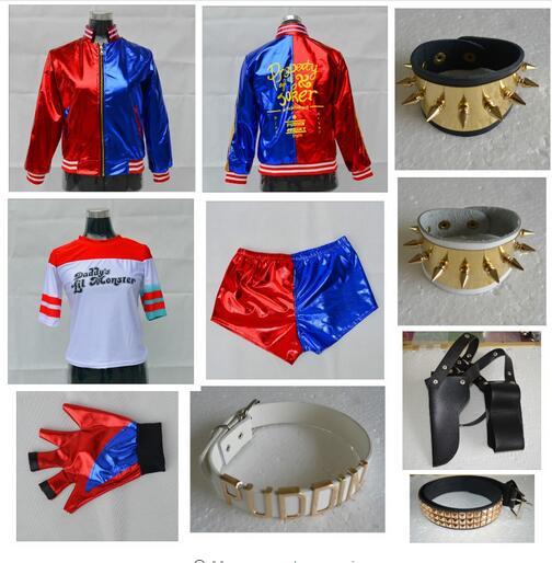 Suicide Squad Harley Quinn Monster T Shirt Jacket Harley Quinn Cosplay Costume Women Tee 2018 Joker Harley Quinn Cosplay Costume