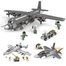 XINGBAO 06021 06022 06023 06024 06026 Military Series Model Building Blocks Bricks Helicopter Model Kid Plane Toys LegoINGLYs(China)