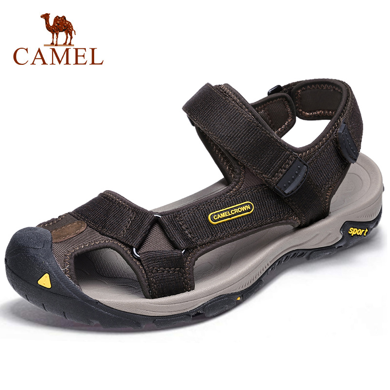 CAMEL Summer Men's Sandals Strap Athletic Men Shoes Waterproof Hiking Sandals Walking Beach Outdoor Shoes Men