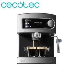 Cecotec Espresso Kaffee Maschine Druck 20 Bars Kaffee mit Doppel Ausfahrt Einstellbar Verdampfer für Schaumig Milch Einfach Sauber