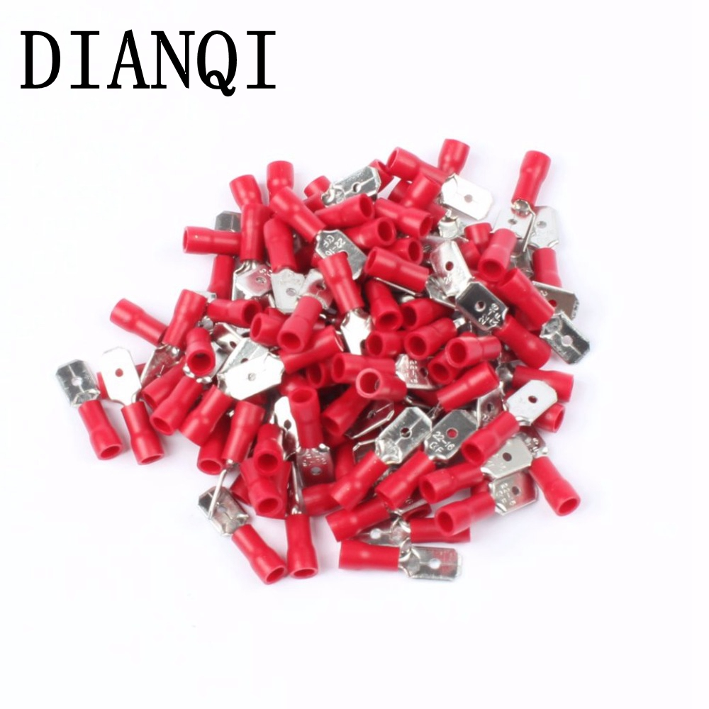 DIANQI MDD1.25-250 male Insulated Spade Quick Connector Terminals Crimp Terminal AWG MDD1-250 100PCS/Pack MDD сумка kate spade new york wkru2816 kate spade hanna