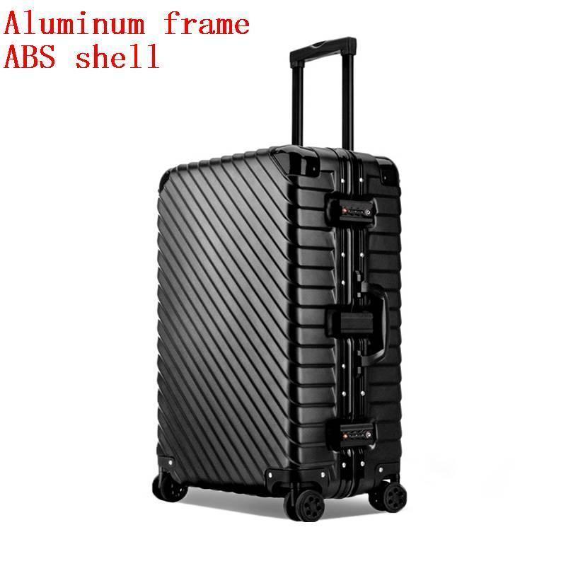 Väska med hjul Valise Väskor Roulettes Aluminiumlegering Ram Mala - Väskor för bagage och resor - Foto 4