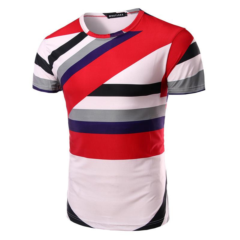 men women milk fiber red blue black stripe 3D painting round collar short  sleeve bike jersey cycle bike T shirt set 0310aa9b0