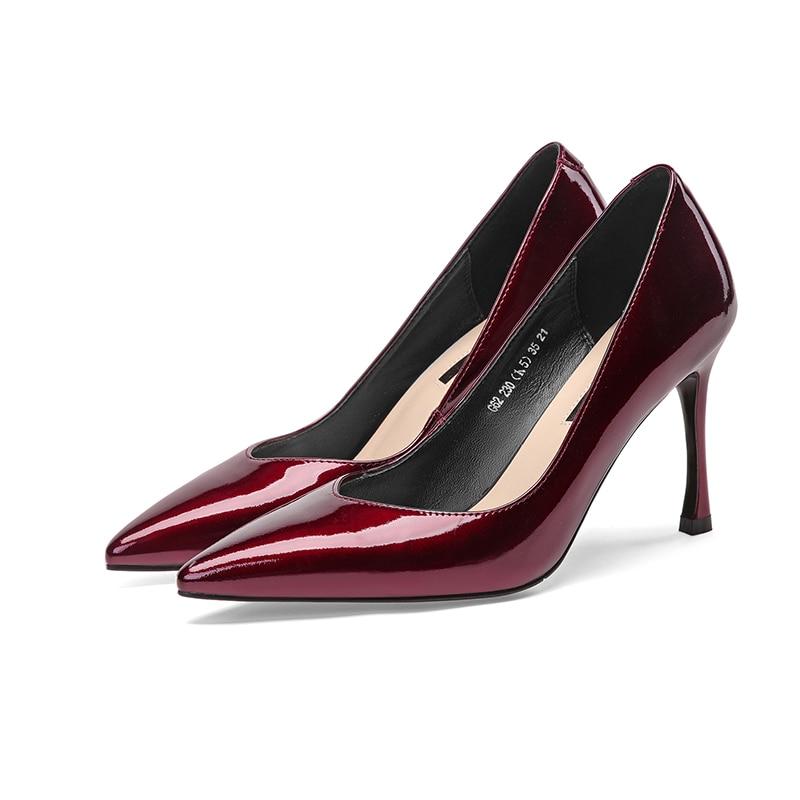 Bombas Dama Diseño Tacón Nuevo Oficina Alto Mujer Zapatos 2019 De qpawtt