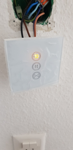 Sistema automático de controle de cortina Parede Controle Remoto