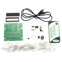 New Arrival 4x4x4 Dual Color LED Cube 3D Light Square Electronic DIY Kit With Remote Control