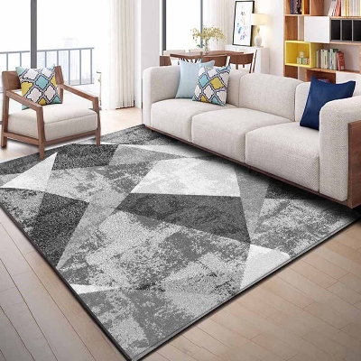Else Gray Black White Vintage Patchwork Retro 3d Print Non Slip Microfiber Living Room Decorative Modern Washable Area Rug Mat