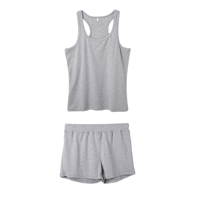 Women  Cotton Clothes Set Vest+Hot Pants