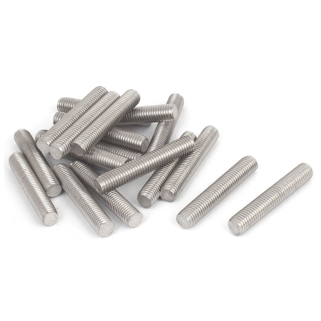UXCELL M12 X 70Mm 304 Stainless Steel Right Hand Thread Fully Threaded Rod Stud 20Pcs
