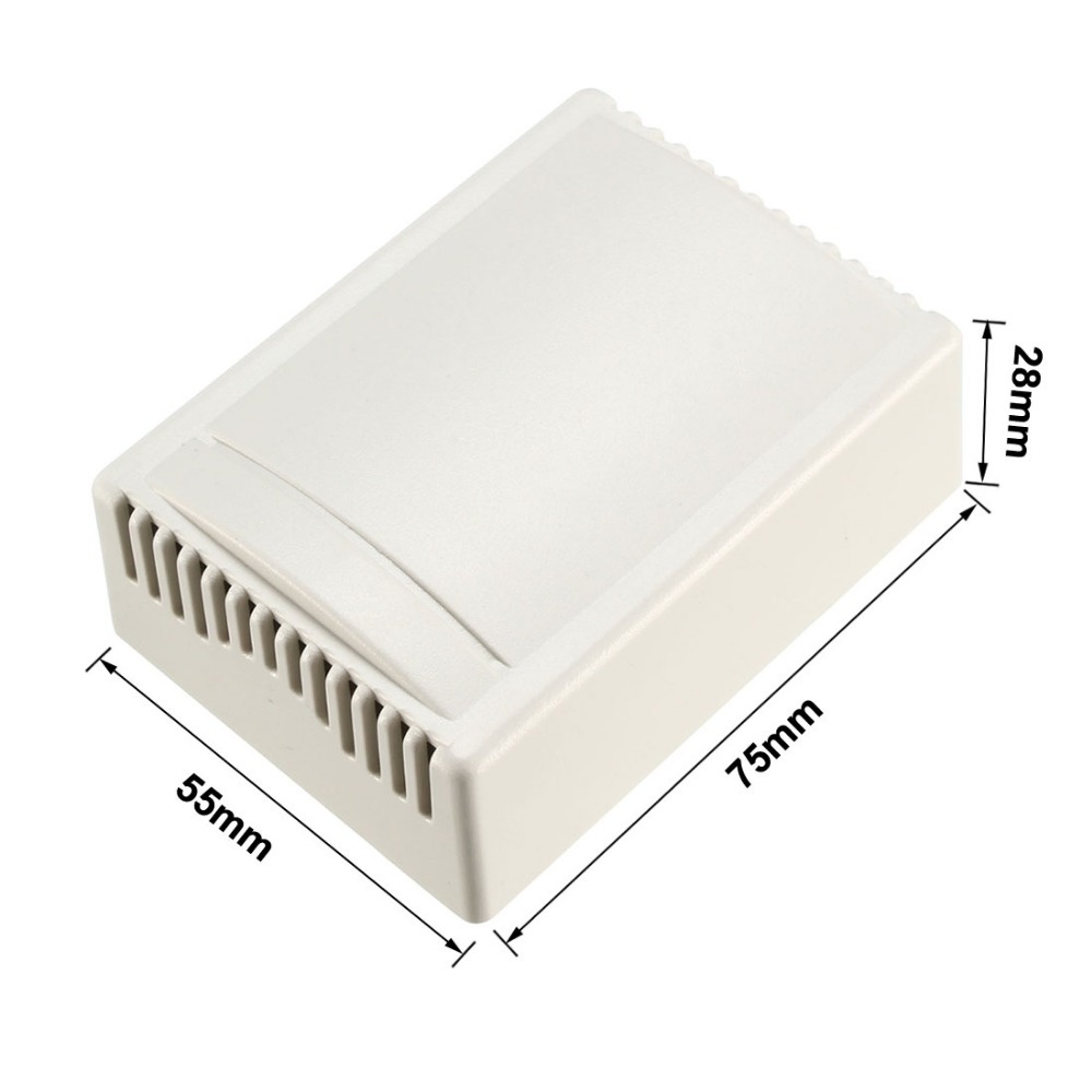 Uxcell 1Pcs 75 X 55 X 28mm Electronic Plastic DIY Junction Box Alarm Box Enclosure Case Off White For Signal Chassis