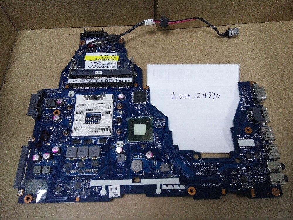 K000124370 C660 C665 LA-7202P connect board connect with motherboard full test lap connect board 573758 001 lap connect with 3d printer motherboard dv8 pm55 full test lap case connect board