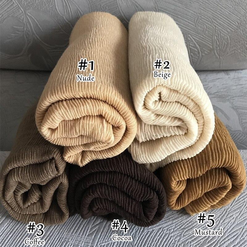 ZFQHJJ Wholesale 10pc Crinkle Wrinkle Crumple Cotton Scarf for Women Plain Long Large Islamic Muslim Turkey