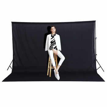3X2M Fotografia Photo studio background Black Screen Cotton Muslin Chroma key Photo Background Photography Backdrops Free Ship - DISCOUNT ITEM  43% OFF Consumer Electronics