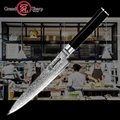 Дамасский кухонный нож 5 9 дюймов нож для кухни японский vg10 Дамасская сталь кухонные ножи шеф-повара кухонные инструменты 67 слоев нержавеюща...