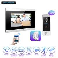 Homssecur 7 wi fi IP проводной видео домофон безопасности 1.0MP с памятью мониторы для дома