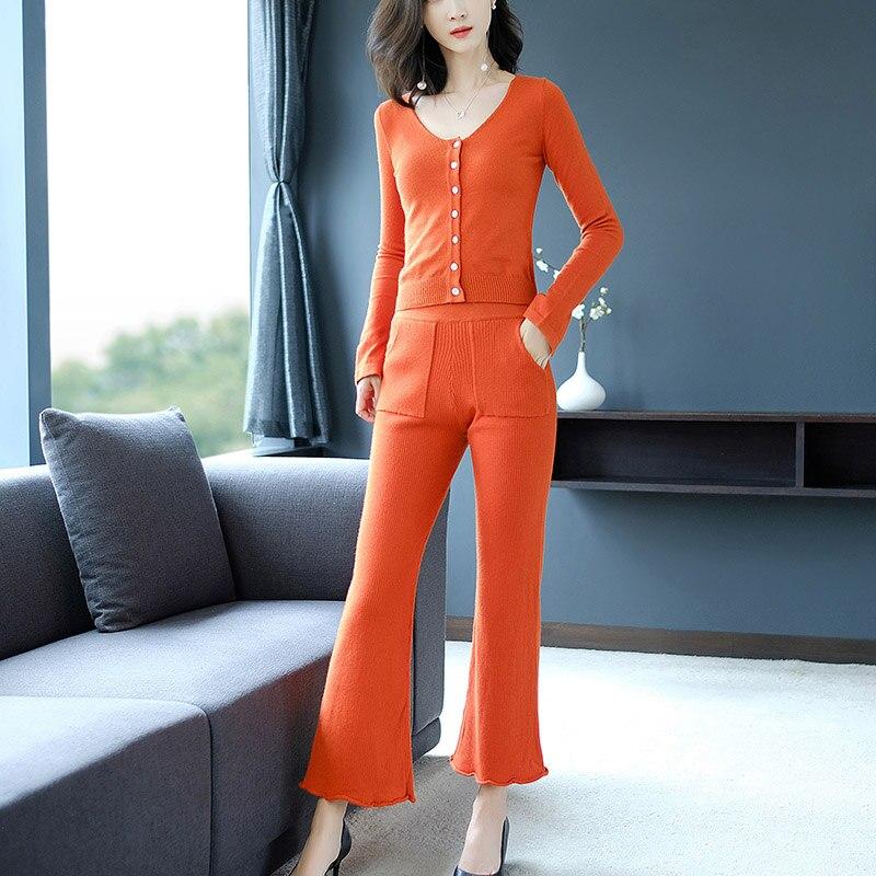 2018 otoño versión coreana del Hotel estilo de temperamento era delgada dos piezas de moda Casual deporte juro conjunto