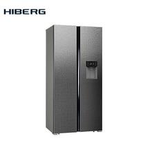 Холодильник Side-by-Side HIBERG RFS-484DX NFXq, цвет нержавеющая сталь с фактурной поверхностью