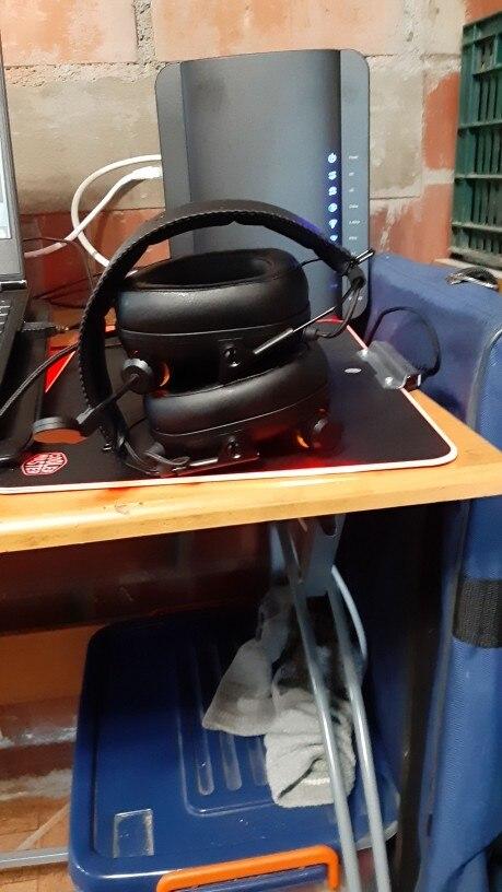 Fones de ouvido headGrupo virtual ouvido