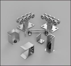 Freies verschiffen. Kit3 heavy duty autimotion tor zubehör cantilever tor roller sets Cantilever Schiebe Tor Set