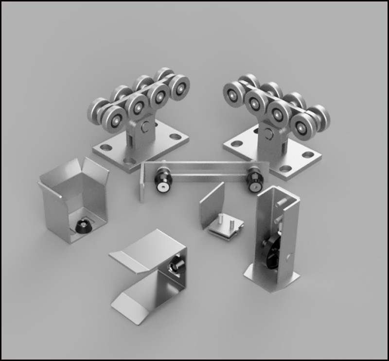 Livraison gratuite. Kit3 accessoires de porte robuste autimotion ensembles de rouleaux de porte en porte-à-faux ensemble de porte coulissante en porte-à-faux
