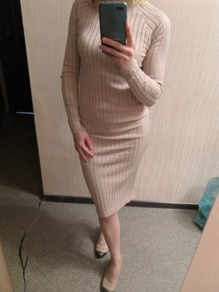 FATIKA Women Knitted Dress Spring Autumn 2017 Long sexy Bodycon Dresses Elastic Slim Twinkle Sweater Dress vestidos