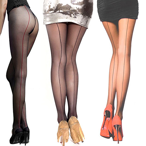 de97f3b0188 Sexy Women s Ultra Sheer Transparent Line Back Seam Tights Stockings  Pantyhose