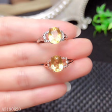 KJJEAXCMY Fine Jewelry 925 sterling silver inlaid natural citrine gemstone female ring support test kjjeaxcmy fine jewelry 925 sterling silver inlaid natural gemstone amber wax female ring support test