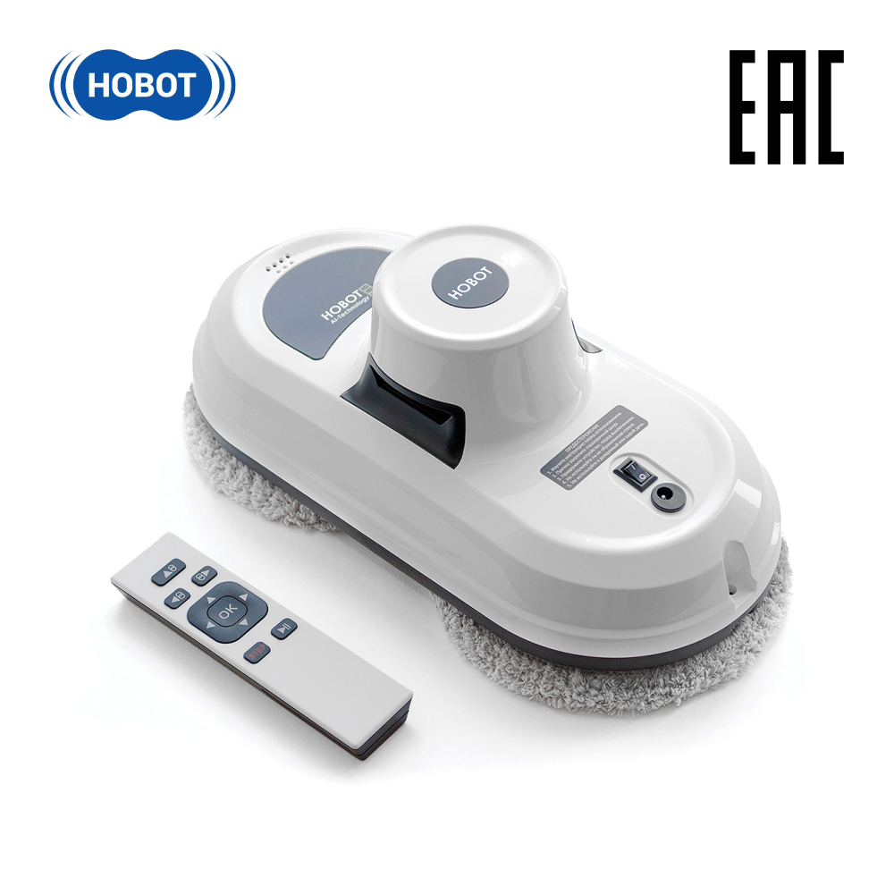 HOBOT 188 Household Windows Cleaner Robot Window Cleaning Vacuum Cleaner Wiper Wet Dry Remote Control Electric Washing Glass 2 5 inch exhaust control valve with remote control car stainless electric exhaust valve cut outs electric exhaust cutout kit