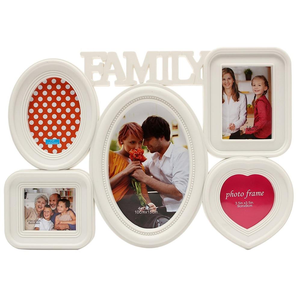 5 Combination Photo Frame Family Love DIY Picture Rahmen Bedroom ...