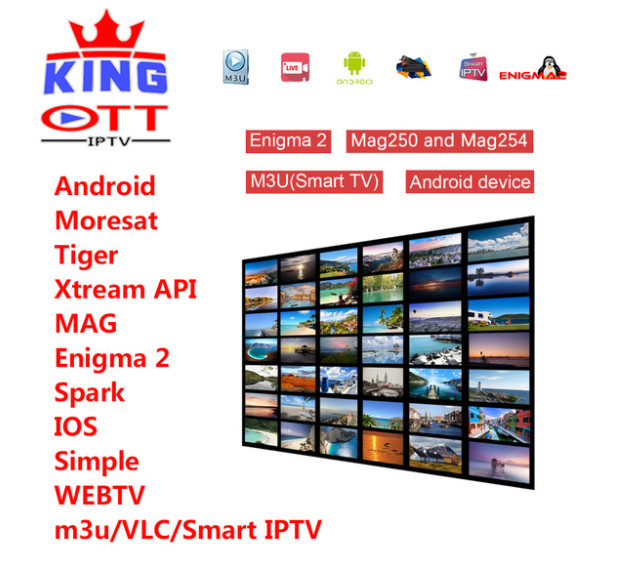 King OTT IPTV French IPTV Belgium IPTV Arabic IPTV Dutch IPTV UK TV SUNATV Support Android m3u enigma2 mag250 TVIP 4000+Vod
