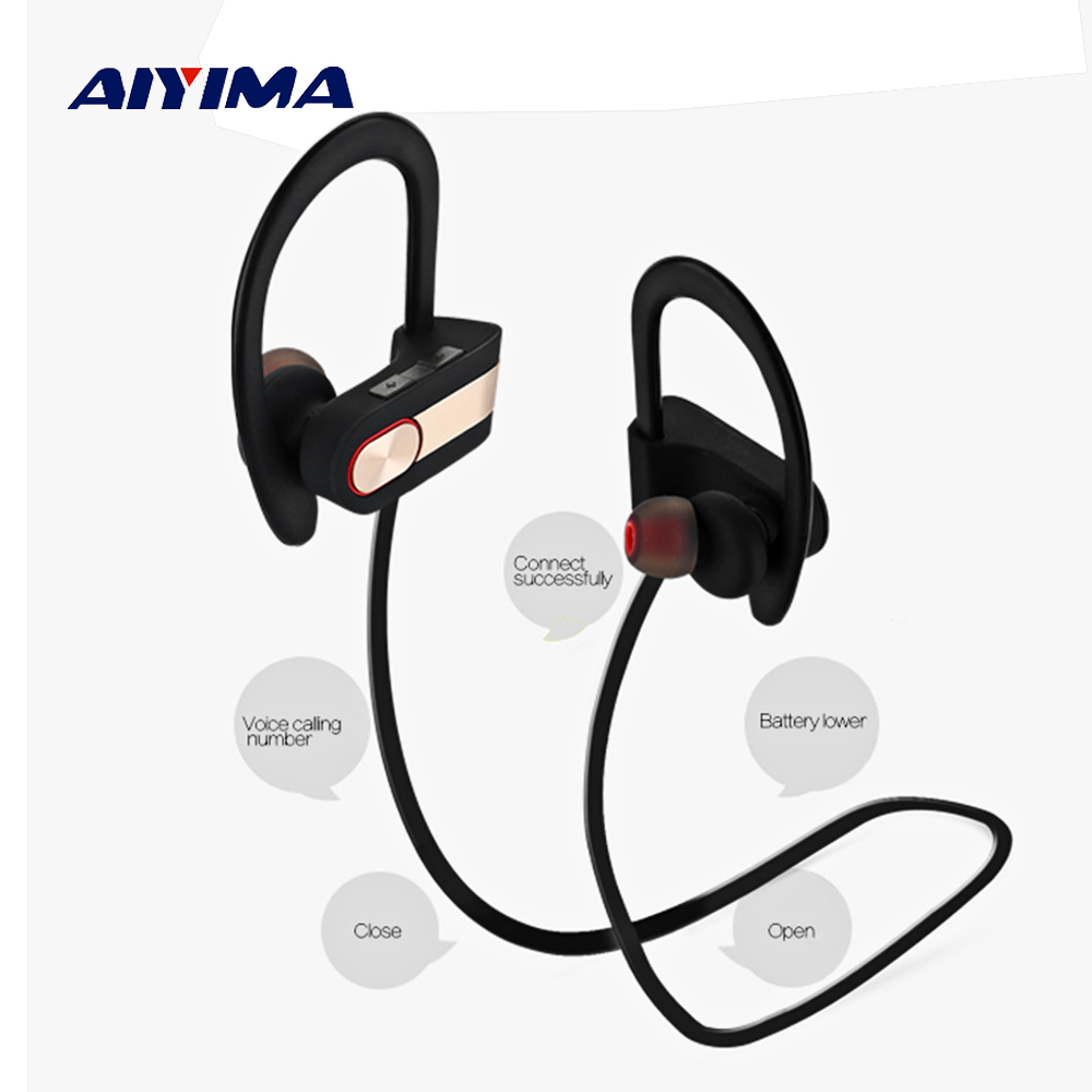 AIYIMA Wireless Bluetooth Headphones Sports Waterproof Earphone Headset Auriculares Inalambrico Bluetooth Running Fone De Ouvido