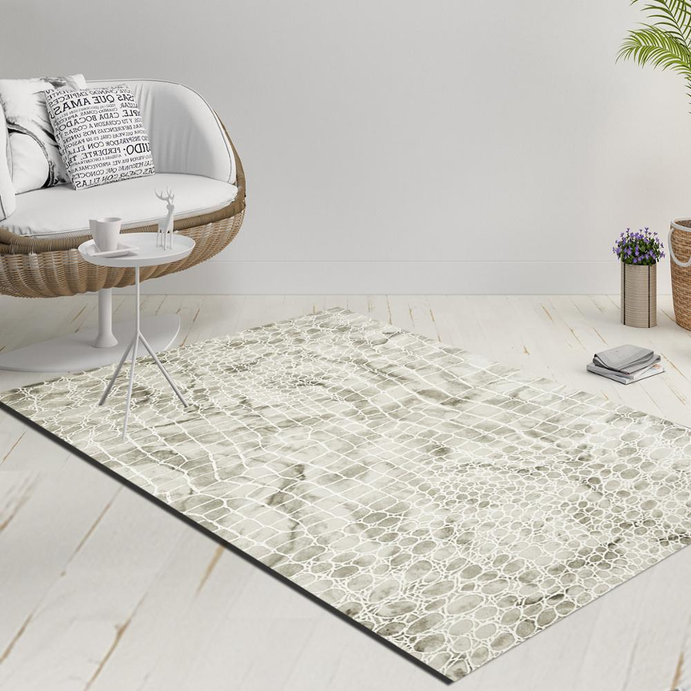 Else White Gray Aging Vintage Snake Skin Decorative 3d Print Anti Slip Kilim Washable Decorative Kilim Rug Modern Carpet