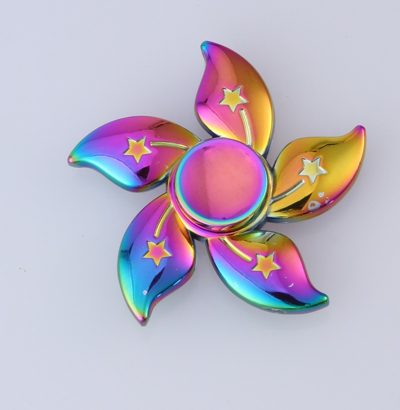Rainbow Color Star Hand Spinner For Autism and ADHD EDC Fidget Spinner Stress Relief Toy