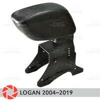 Apoio de braço para Renault Logan 2004 2019 carro descanso de braço consola central caixa de armazenamento de couro cinzeiro acessórios do carro styling|Braços| |  -
