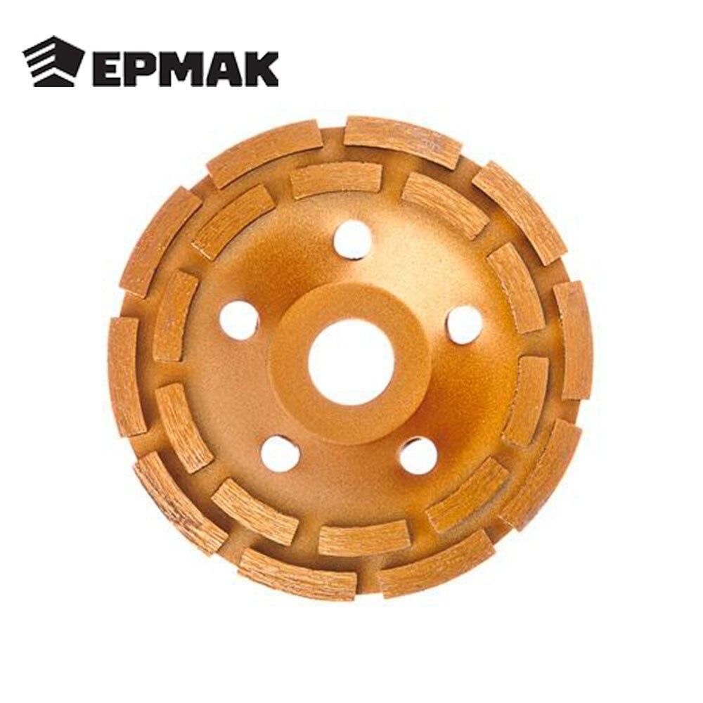ERMAK DOPPIA FILA di DIAMANTI TAZZA 125mm taglio per pietra di alta qualità a basso prezzo di vendita di trasporto libero 664-055