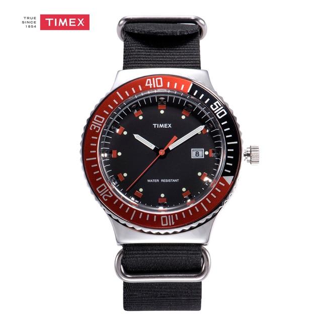 30881517449c Regalo del Día de San Valentín Para Hombre Relojes Timex UG0108 Marea Negro  Nylon Correa Reloj