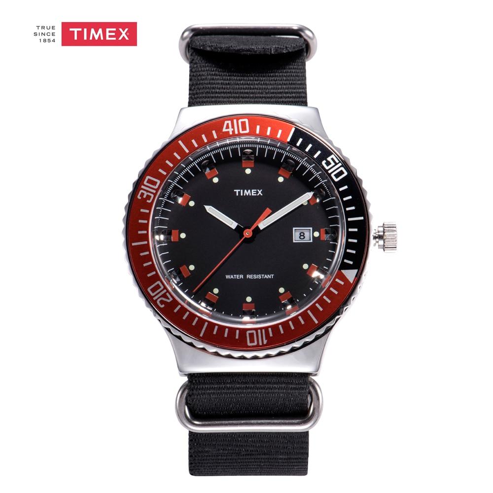 Timex Men's Watch UG0108 Quartz Watch Tide Black Nylon Strap Men's Watches timex tw2p90300