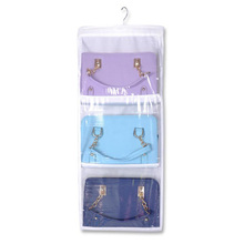Double bread bag non-woven storage bag Hanging wardrobe door perspective finishing home storage bag