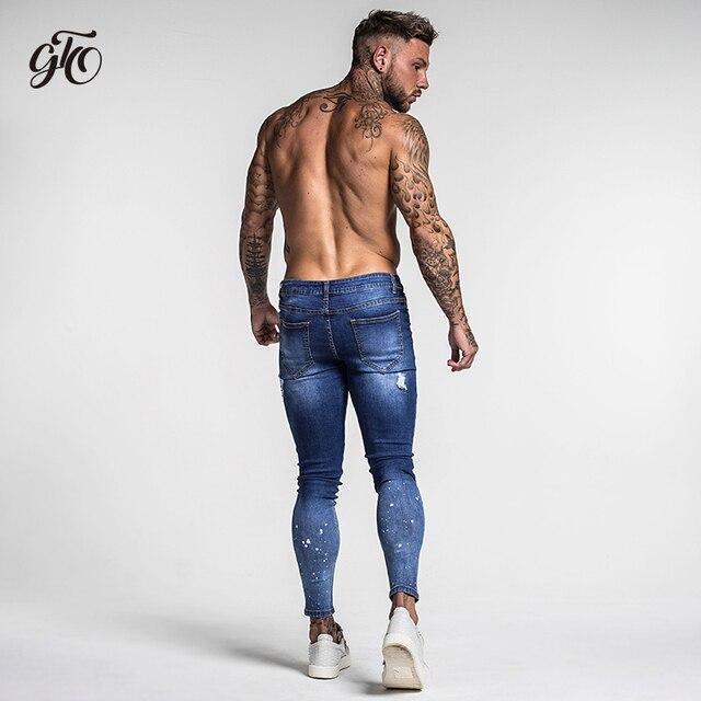 Dark Blue Ripped Jeans For Men  5