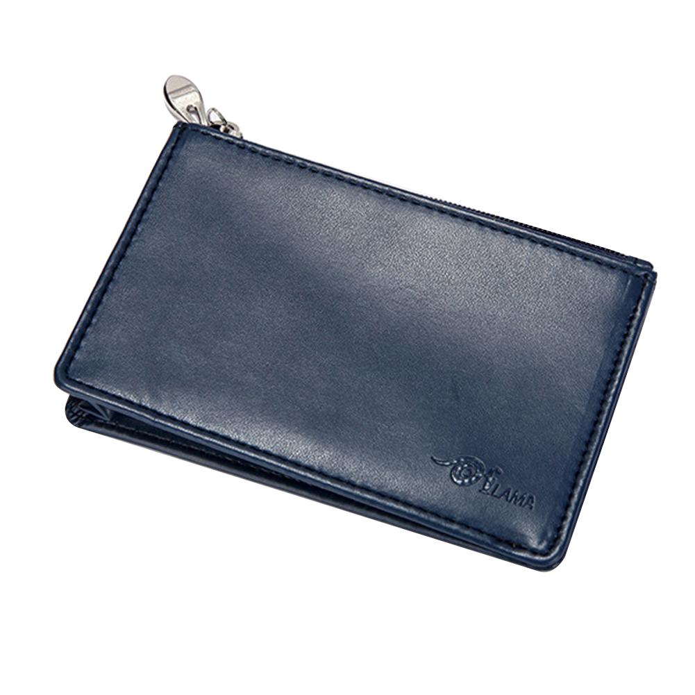 Mini Small Women Men Faux Leather Coin Purse Pouch Change Wallet Card Holder