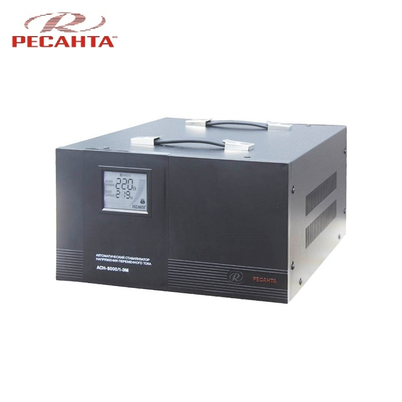 Single phase voltage stabilizer RESANTA ASN-8000/1 EM Voltage regulator Monophase Mains stabilizer Surge protect Power stab лонгслив modis modis mo044ewbztu6