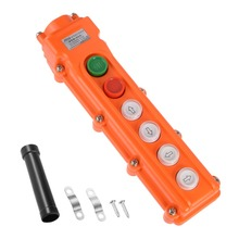 UXCELL 1 PCS Rainproof Hoist Crane Pendant Control Station Push Button Switch Up Down On Off Left Right Or East West 6 Ways