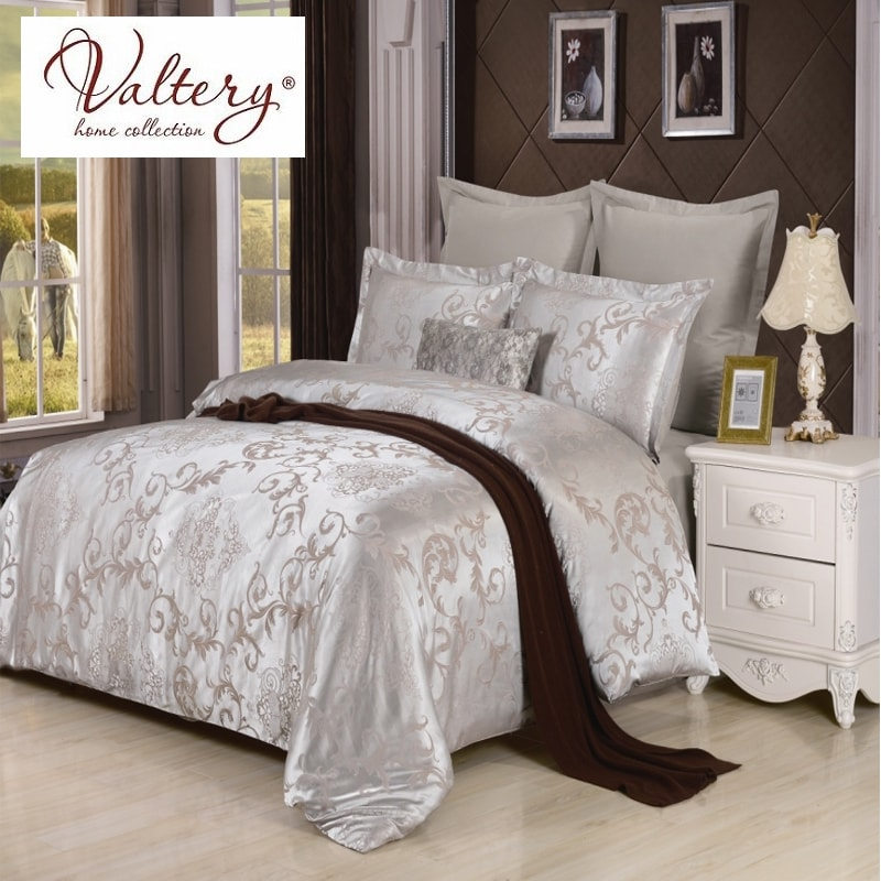 100% cotton satin jacquard flowers luxury bedding sets queen king size duvet cover bed sheet set bed set bed linen kit plaid colorful 3d butterfly print with white color duvet cover 4 piece bedding sets