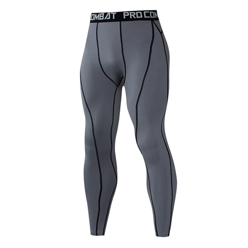 Tights For Men Running Compression Pants Tights Men Sports Leggings Fitness Sportswear Long Trousers Gym Training Pants Skinny Leggins
