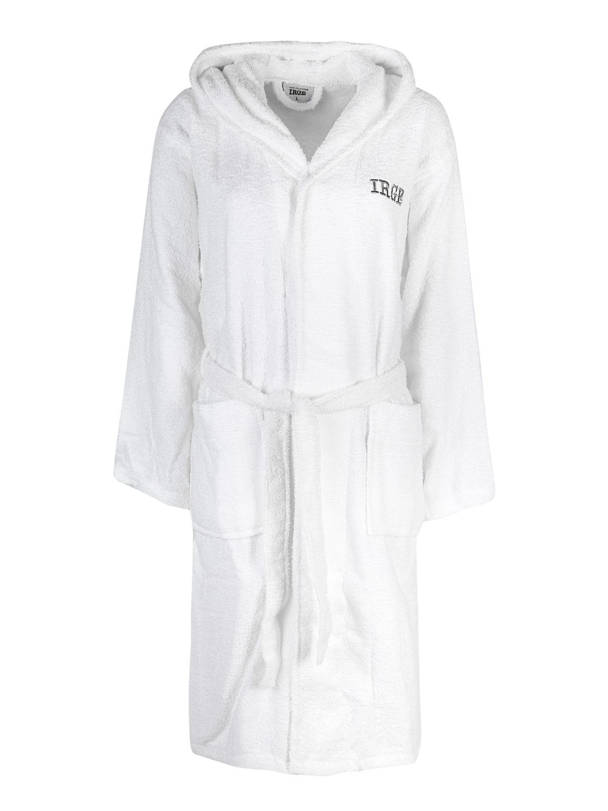 Hooded Bathrobe-White
