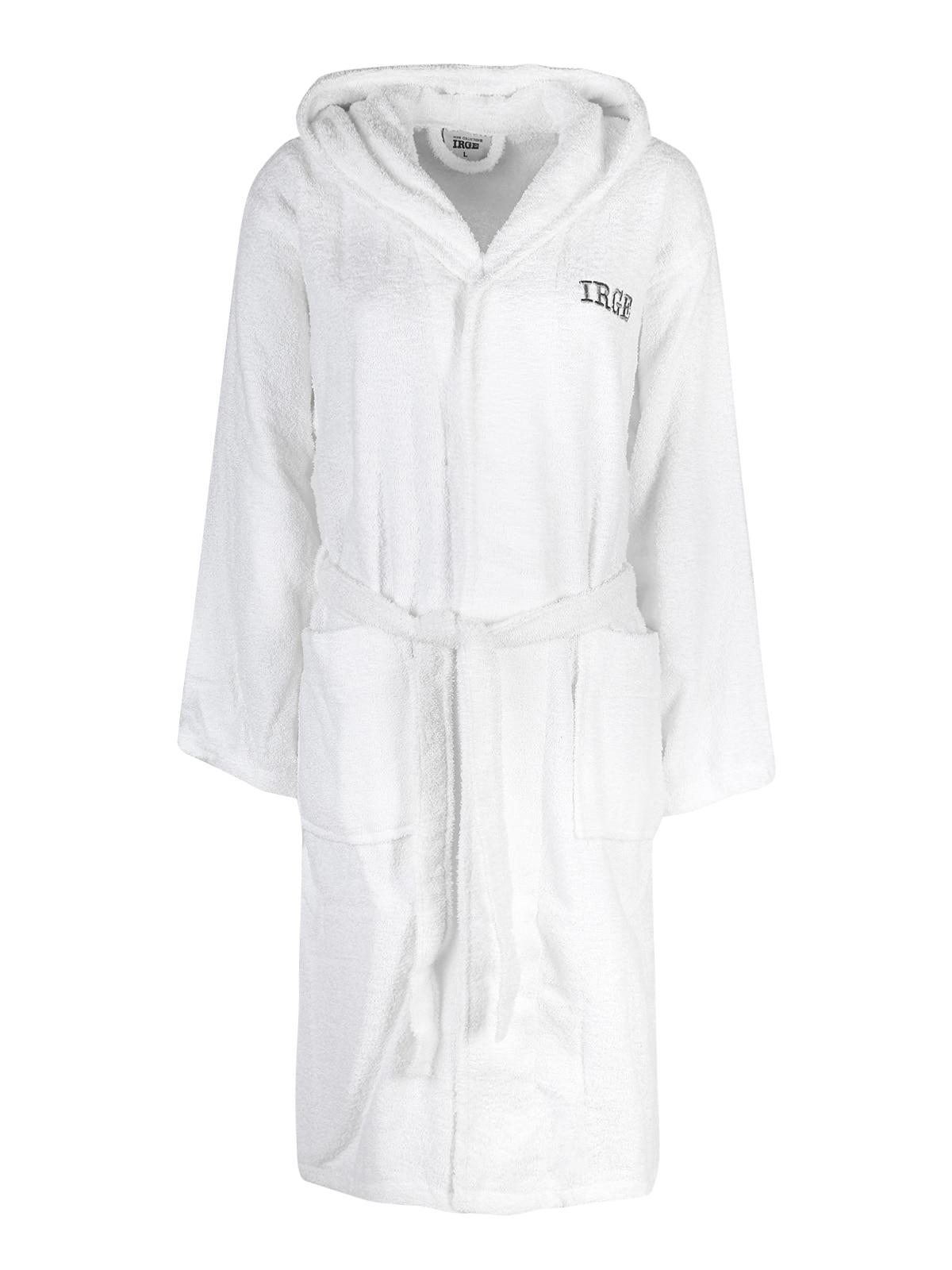 Hooded Bathrobe-White