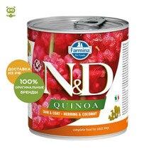 N&D Dog Quinoa Wet Food Skin & Coat консервы для собак всех пород, Сельдь и кокос, 285 гр.