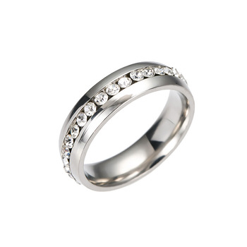 Crystal Wedding Rings For Women Men Stainless Steel Engagement Ring Anillos Anel